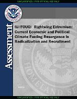 HSA report, Rightwing extremism in the United States